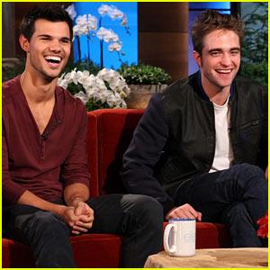 Robert Pattinson & Taylor Lautner: 'Ellen' Show Guests!