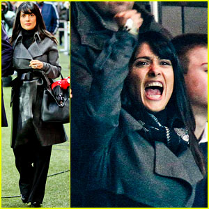Salma Hayek: French First League Soccer Fan!