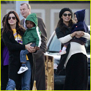 Sandra Bullock & Camila Alves Hang Out with the Kids!