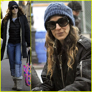 Sarah Jessica Parker: Rainy Day Walk with the Twins!