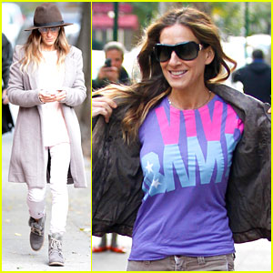 Sarah Jessica Parker: 'Viva Obama' Shirt on Election Day!