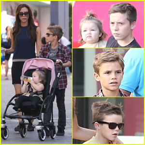 Victoria Beckham: Universal CityWalk with the Kids!