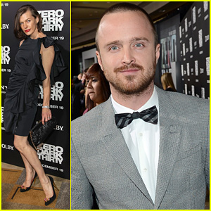 Aaron Paul & Milla Jovovich: 'Zero Dark Thirty' Premiere!