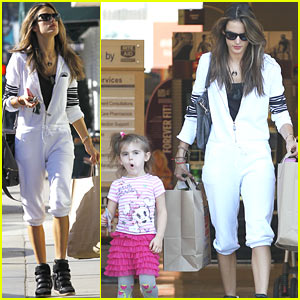 Alessandra Ambrosio Shops The Morning Away with Anja