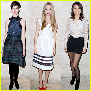 Anne Hathaway & Amanda Seyfried: 'Les Miserables' Luncheon!