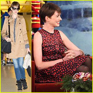 Anne Hathaway Kept Her Broken Arm a Secret!