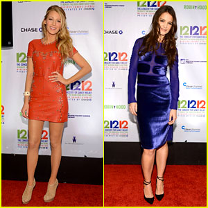 Blake Lively & Katie Holmes: 12-12-12 Concert Cuties!