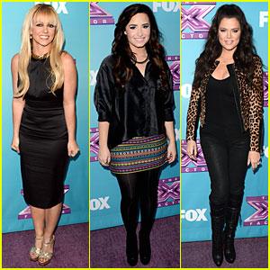 Britney Spears & Demi Lovato: 'X Factor' Season Finale News Conference!