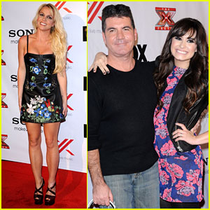 Britney Spears & Demi Lovato: 'X Factor' Viewing Party!