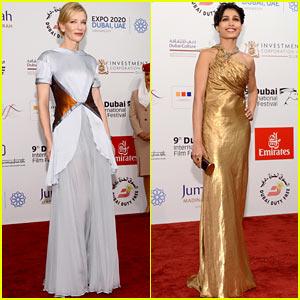 Cate Blanchett & Freida Pinto - Dubai International Film Festival 2012