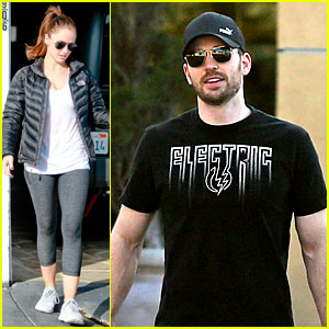 Chris Evans Goes Grocery Shopping, Minka Kelly Works Out