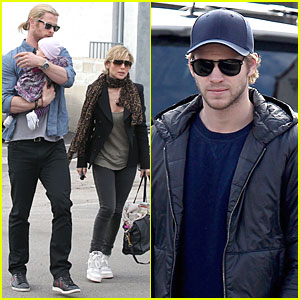 Chris Hemsworth & Elsa Pataky: Sunday Lunch with Liam Hemsworth!