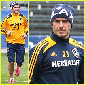 David Beckham: Final Galaxy Game Practice!