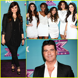 Demi Lovato & Fifth Harmony: 'X Factor' Finale Party!