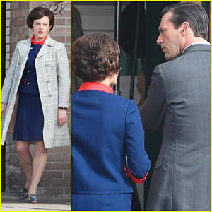 Elisabeth Moss: 'Mad Men' Set with Jon Hamm!