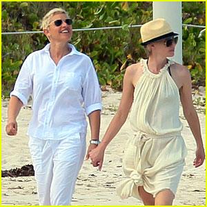 Ellen DeGeneres & Portia De Rossi: Holding Hands in St. Barts!