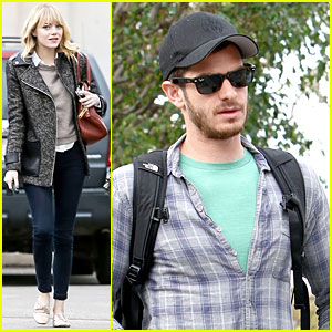 Emma Stone &#038; Andrew Garfield : Separate Outings with Friends!