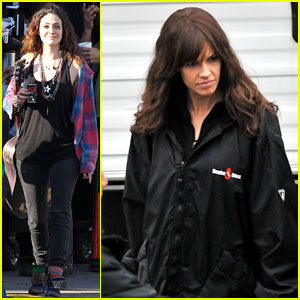 Hilary Swank: 'You're Not You' Set with Emmy Rossum!