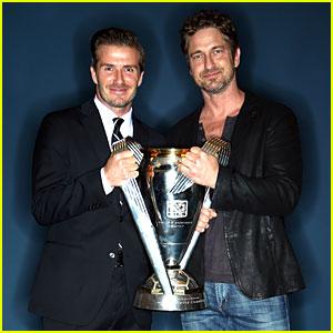 Gerard Butler: MLS Cup 2012 with David Beckham!