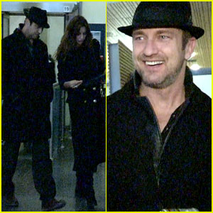 Gerard Butler: Norway Arrival with Madalina Ghenea!