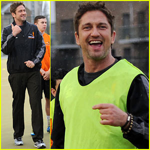 Gerard Butler: Street League Charity Soccer Training!