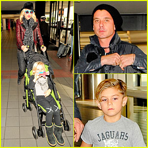 Gwen Stefani & Gavin Rossdale: Holiday Travel with the Kids!