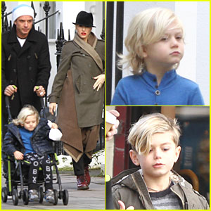 Gwen Stefani & Gavin Rossdale: Primrose Hill Park Stroll with the Boys!