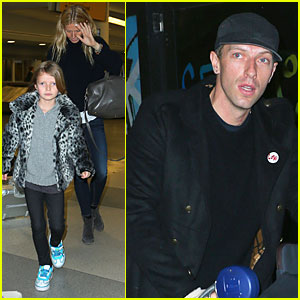 Gwyneth Paltrow & Chris Martin: New York Landing with the Kids!
