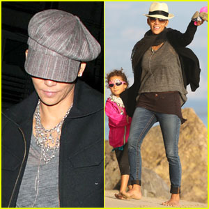 Halle Berry & Nahla: Beach Strolling Duo!