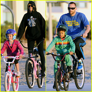 Heidi Klum & Martin Kirsten: Bike Rides With The Kids!