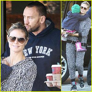Heidi Klum: Coffee Run with Martin Kirsten & Lou!