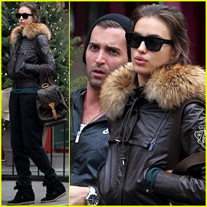 Irina Shayk: Big Apple Shopping with a Male Pal!