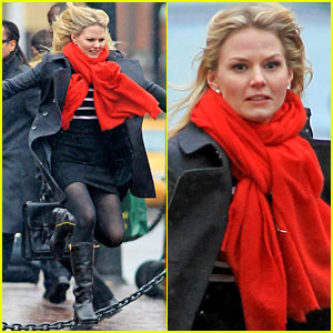 Jennifer Morrison: Running & Jumping for 'Once Upon A Time'!