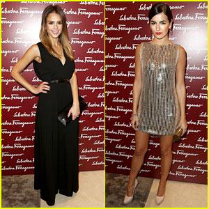 Jessica Alba & Camilla Belle: Ferragamo Store Opening!