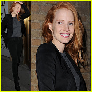 Jessica Chastain: Windswept at 'The Heiress'!