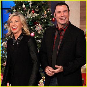john travolta olivia newton john release new music video - Olivia Newton John This Christmas