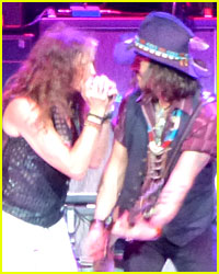Johnny Depp & Steven Tyler Rock Out at Aerosmith Concert!