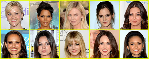 Just Jared's Most Popular Actresses 2012