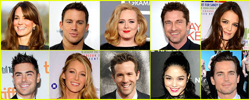 Just Jared's 50 Most Popular Celebs 2012