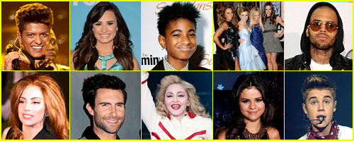 Just Jared's Most Popular Music Acts 2012