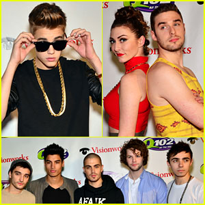 Lindsay Lohan Watches The Wanted at Q102's Jingle Ball!
