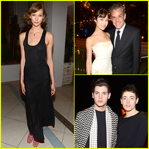 Karlie Kloss & Olga Kurylenko: Chanel's Art Basel Dinner!