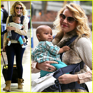 Katherine Heigl Takes Off with Baby Adalaide!