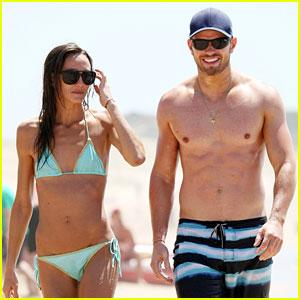 Kellan Lutz: Shirtless Beach Day with Sharni Vinson!