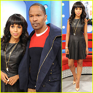 Kerry Washington & Jamie Foxx: '106 & Park' Appearance!