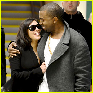 Kim Kardashian Pregnant - First Sighting with Kanye West!