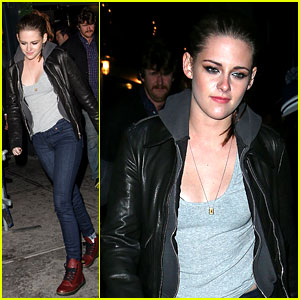 Kristen Stewart Dresses Down for 'On the Road' After Party
