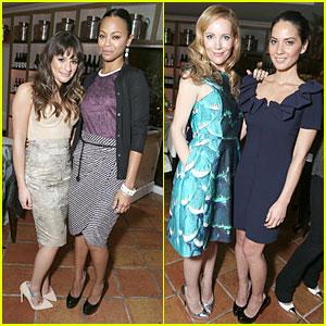 Lea Michele & Olivia Munn: Marie Claire's Hollywood Dinner!