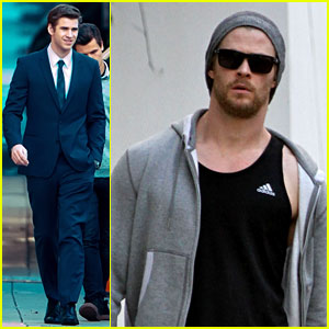 Liam Hemsworth Suits Up, Chris Hemsworth Hits the Gym