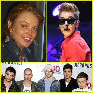 Lindsay Lohan Watches The Wanted at Z100's Jingle Ball 2012!